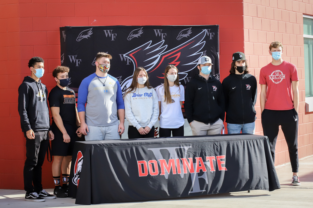 Black Hawk Athletes Sign National Letters of Intent
