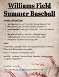 Williams Field Summer Baseball
