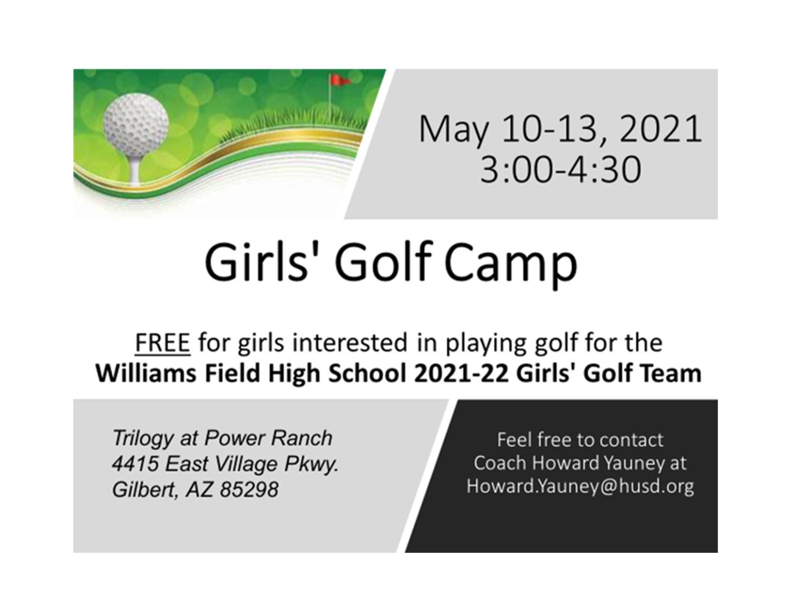 Girl's Golf Spring Camp