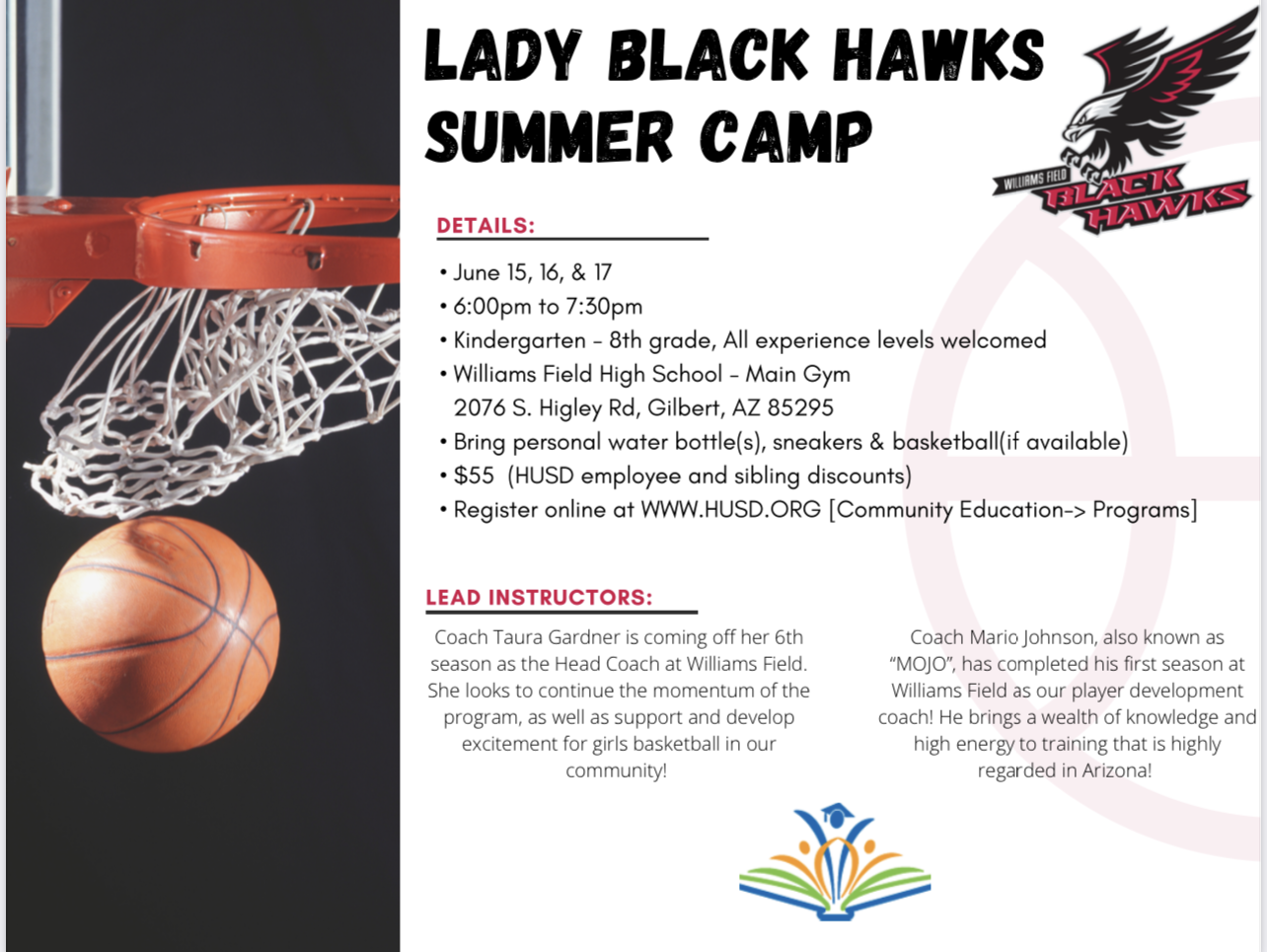 LADY BLACK HAWKS SUMMER BASKETBALL CAMP….WE'RE BACK!