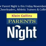 Senior Parent Night Friday