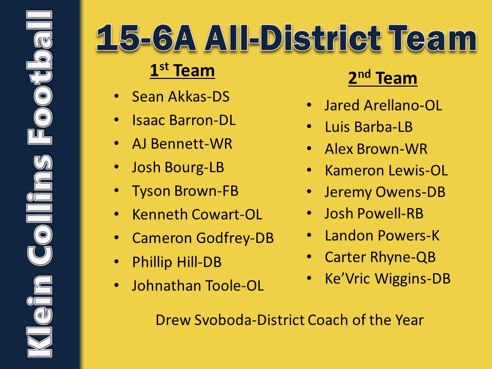 All-District Team Announced