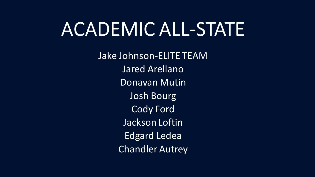 Academic All-State Team Announced