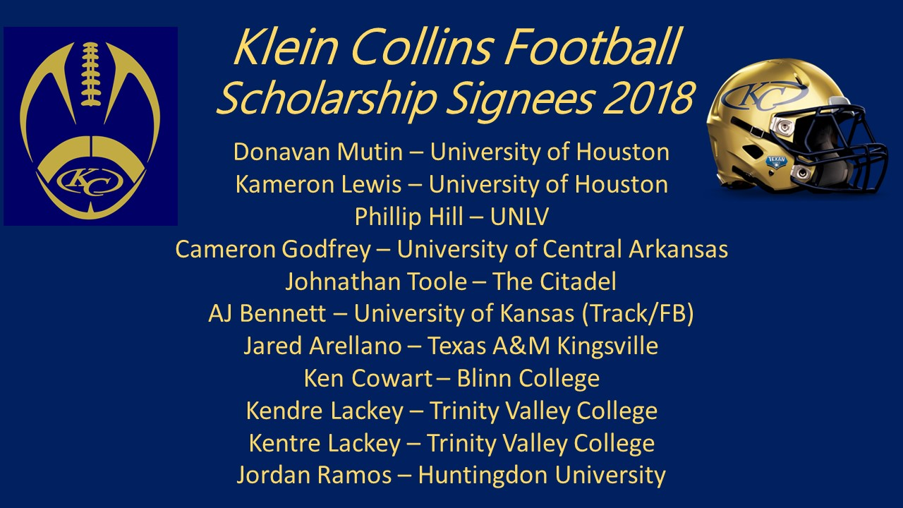 KC signs 11 to scholarships