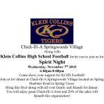 Chick-Fil-A Spirit Night! Wednesday, Nov 7th 6-8pm