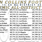 2018 Academic All-District Selections