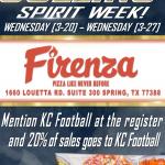 Firenza Pizza – KC Football Fundraiser!