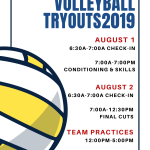 August Tiger Tryouts 9-12th gr.
