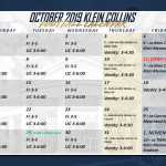 October Calendar Now Available