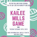 Remembering Kailee Mills 10/15
