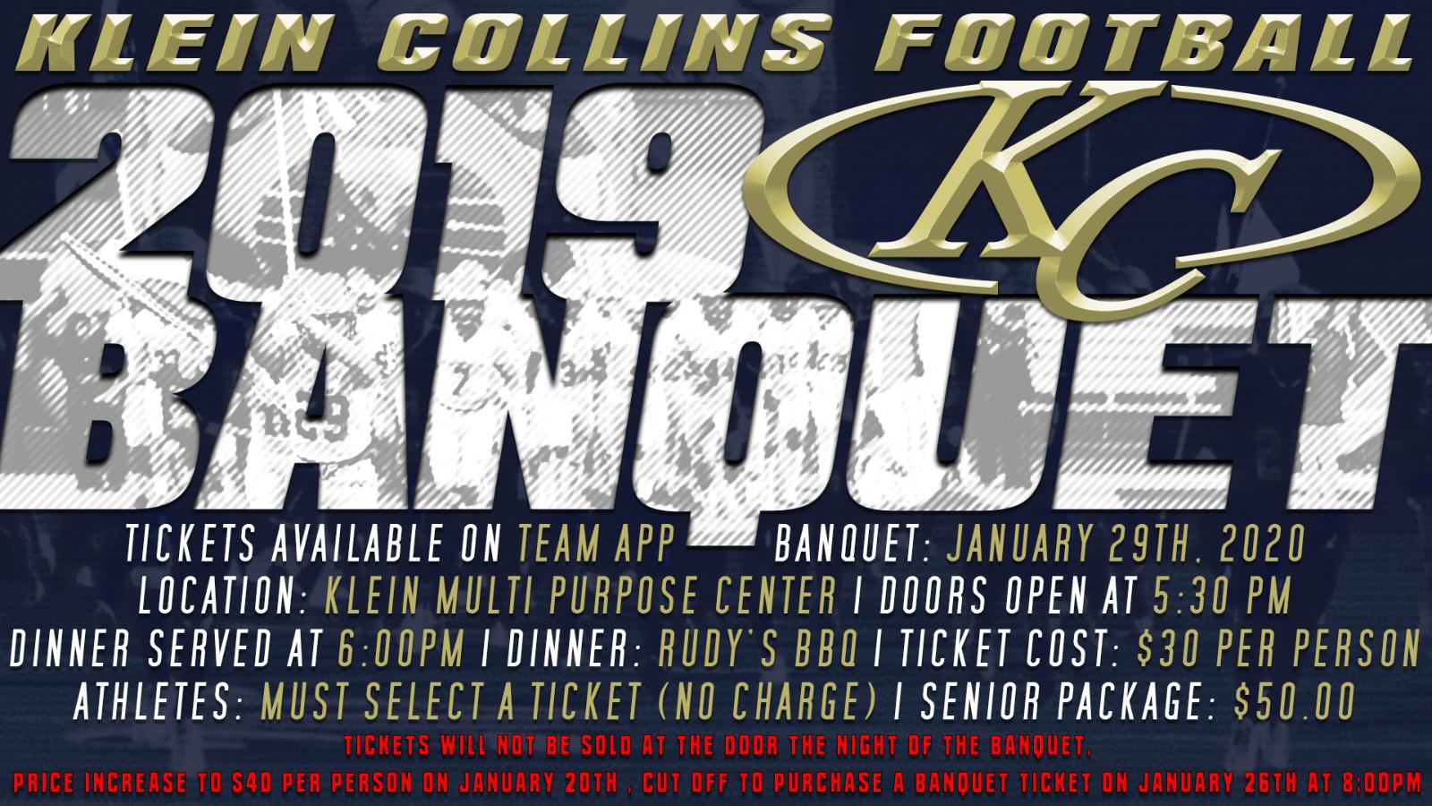 Klein Collins Football Banquet Info