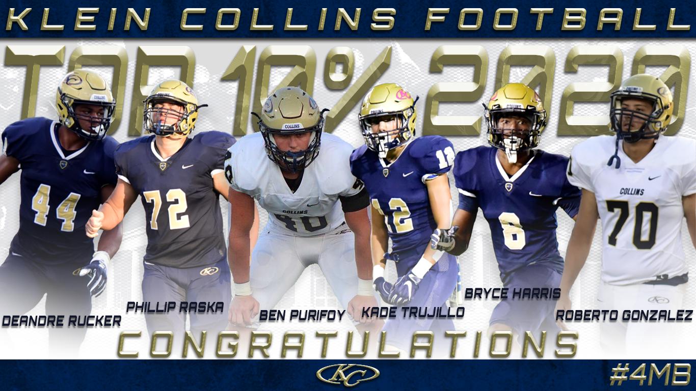 Congratulations! KC Football Class of '20 Top 10%