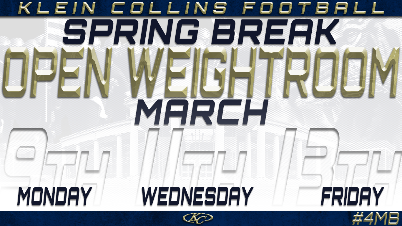Open Weight Room Dates & Times