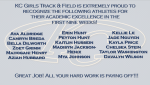 KC Girls Track & Field Academic Excellence