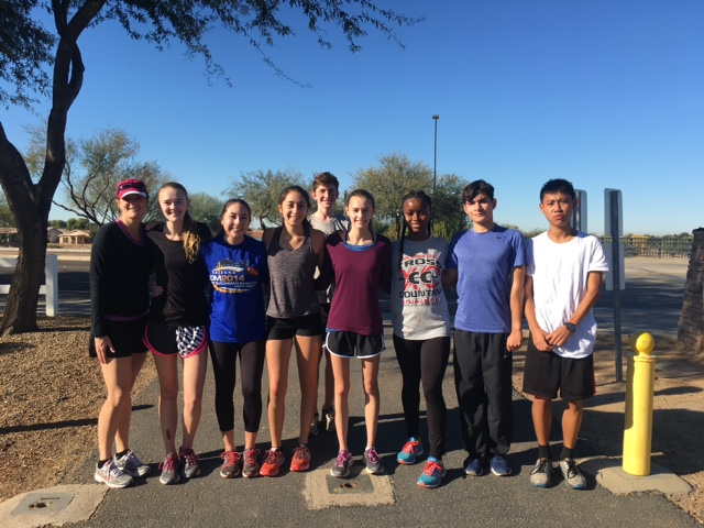 Cross Country Braves the COLD to get a long run in!