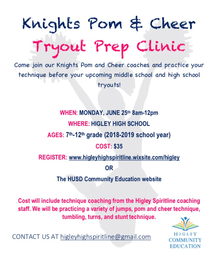 Higley High Knights Cheer Clinic