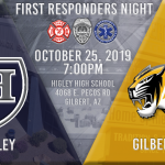 Higley Football to Host First Responders on October 25, 2019