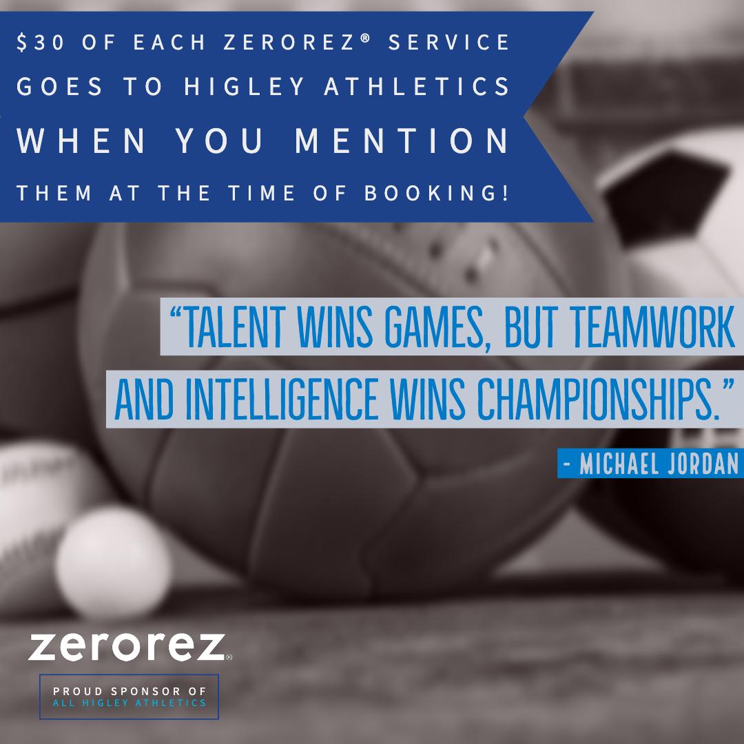 Zerorez Official Sponsor of Higley Athletics