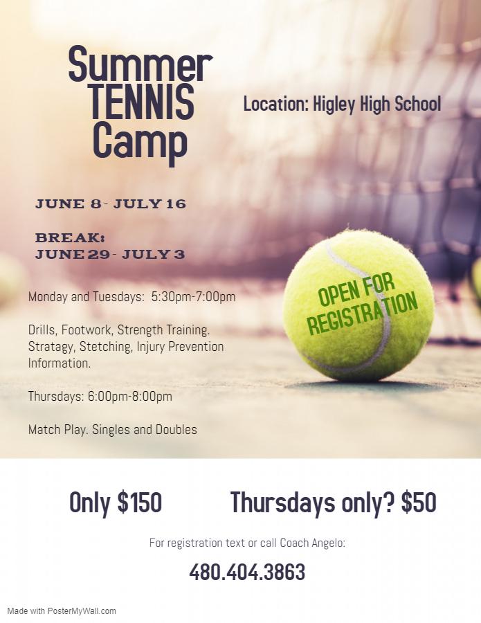 Women's Tennis Summer Camp