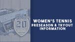 Graphic for Women's Tennis update