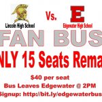 Fan Bus to Lincoln – Seats Are Limited