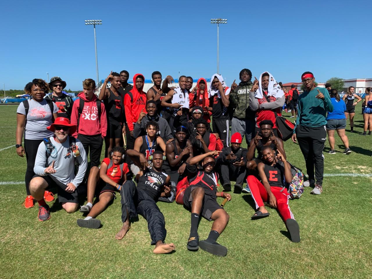 Edgewater Boys Track & Field Win District Title