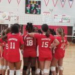 Girls JV Volleyball beats The Trojans