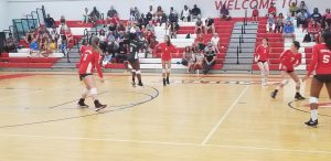 Girls Varsity Volleyball vs Evans