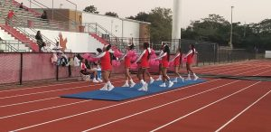Cheerleading Honors Breast Cancer Month