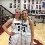 Brumm and Keller Shine in Senior NIght Win