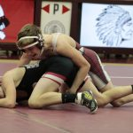 Boys Varsity Wrestling falls to Rensselaer Central 43 – 34