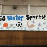 Getting ready for the Winter Sports Pep Rally!