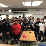 Former San Diego athlete, Larry Parker talks to Hoover BLAX team