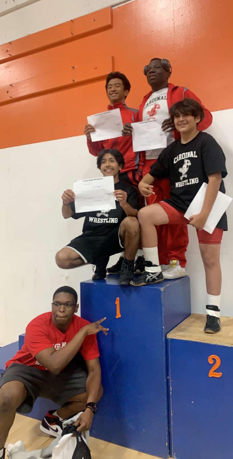 Boys Wrestlers Win League