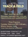 Track and Field Meeting 2/11 @ 4:00pm