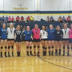 Clawson High School Girls Varsity Volleyball beat Tournament 2-1