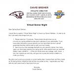 Virtual Senior Night