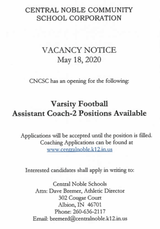 Cougar Football is Searching for Assistant Coaches for the 2020 Season