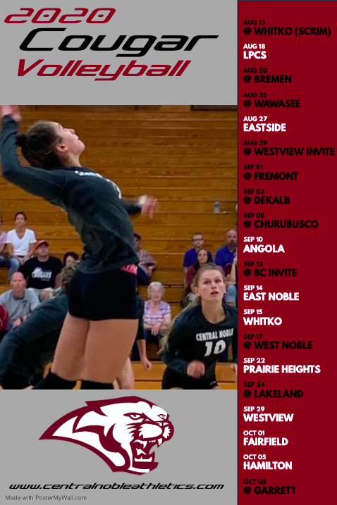 2020 Cougar Volleyball