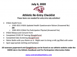 Athletic Re-Entry Checklist (July 2020)