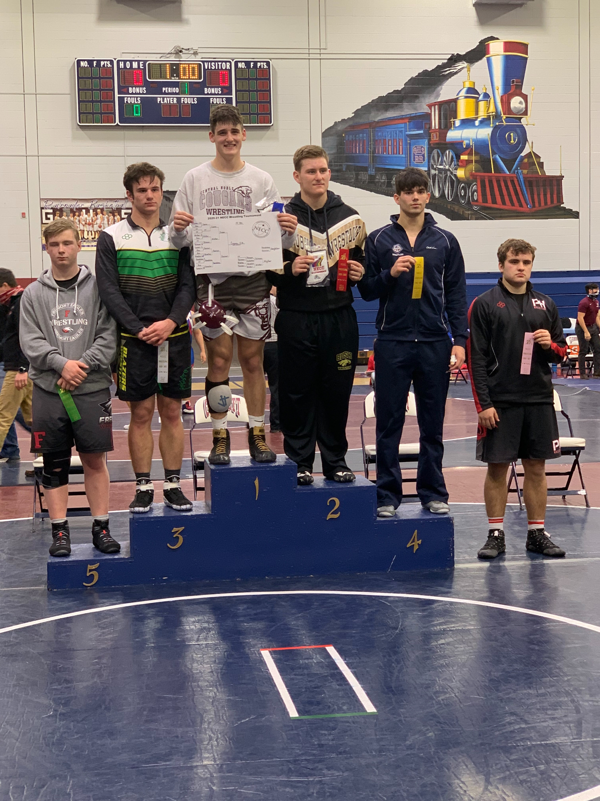 Five Cougar Wrestlers Earn All-Conference Honors