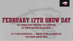 Game and Practice Information for February 17th