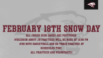 February 18th Snow Day Information