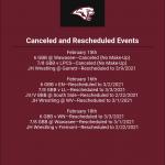 Rescheduled Events