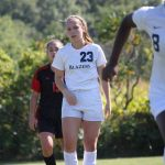 Lindsey's Hat Trick Propels Blazers to 5-1 Victory