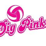 Lady Blazers Celebrate Dig Pink Night