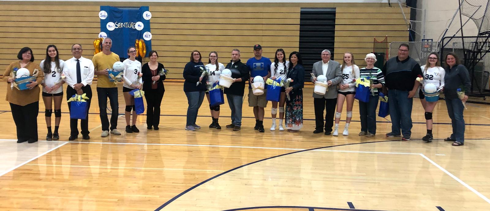 Blazer Volleyball Celebrates Senior Night Wednesday