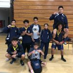 Wrestling medals at City League Tournament