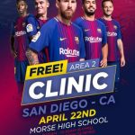 Free FC Barcelona Soccer School Clinic