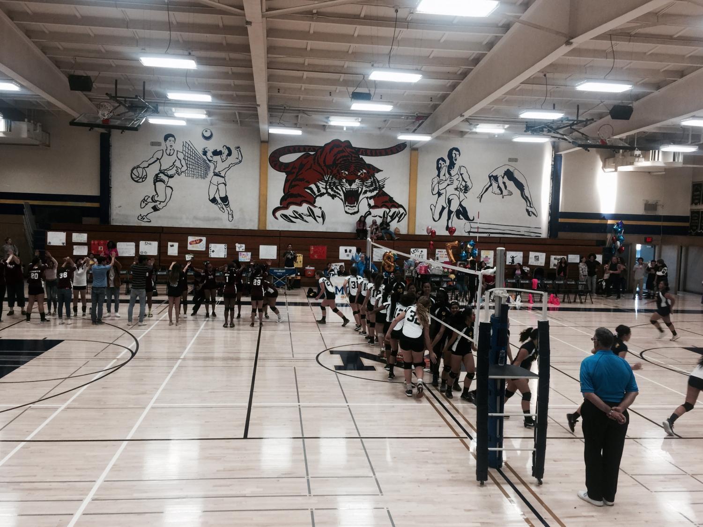 Girl's Volleyball Sweeps @ Senior Night